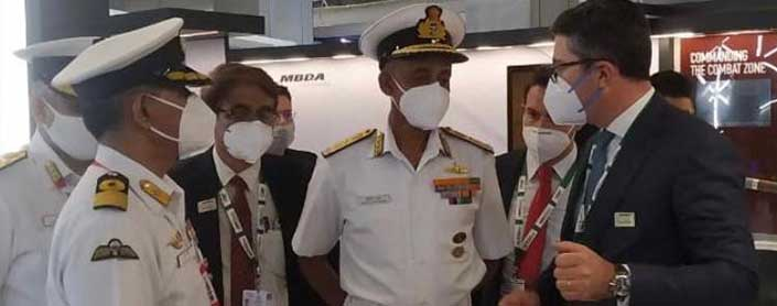 Dy. Chief of Naval Staff at MBDA Stand in Aero India 2021